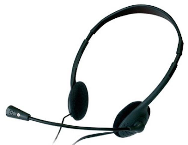 cascos con auriculares y microfono